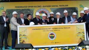 Fenerbahçenin Kayseride yapacağı sosyal tesisin temeli atıldı