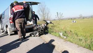 Çaldığı motosikletle yaptığı kazada öldü