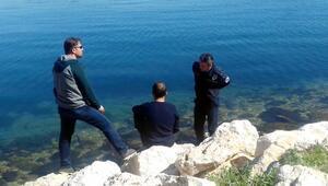 Göl kıyısında intihar girişimi