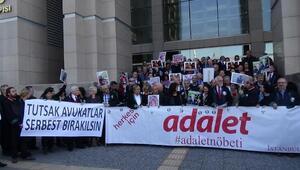 53üncü adalet nöbetinde tutukla avukatların avukatlar günü mesajları okundu