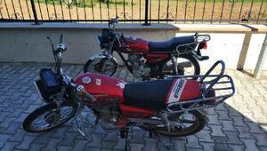 Tutta çalıntı 2 motosiklet ele geçirildi