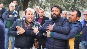 Eskişehir'de tören alanında gergin anlar