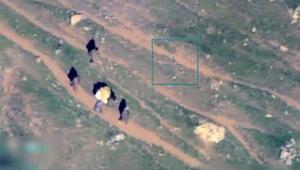 Katırla silah taşıyan teröristler SİHA ile vuruldu