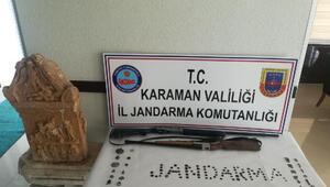 Karamanda tarihi eser operasyonu: 2 gözaltı
