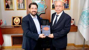 Aksaray Belediye Başkanına, Türk Tarih Kurumu Başkanından ziyaret