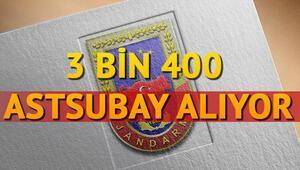 Jandarma astsubay alımı başvurusu nasıl yapılır 3 bin 400 personel alımı yapılacak