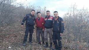 Kaybolan yaşlı adam dağlık arazide bulundu