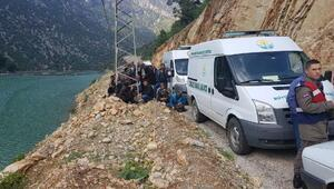 4 kişinin olduğu otomobil baraja uçtu ihbarı (1)