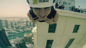 Yağmur Sarıoğlunun Dubaide Zipline heyecanı