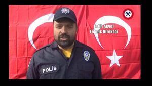 Zonguldak Kömürspordan polise destek klibi