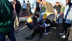 Amatör maçta gerginlik: 1i polis 2 yaralı