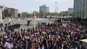 Polis izin vermedi... CHPliler İstiklal Caddesine yürüdü