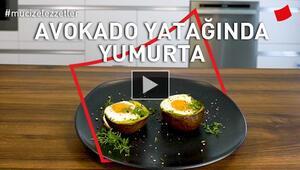 Avokado Yatağında Yumurta