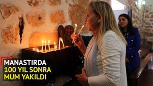 Manastırda 100 yıl sonra mum yakıldı