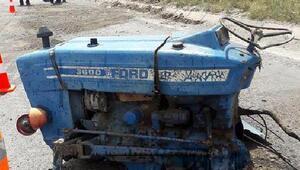 Traktör ikiye bölündü; 3 yaralı
