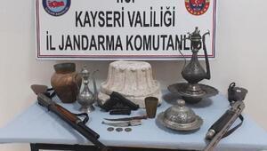Kayseride tarihi eser kaçakçılığı operasyonu: 2 gözaltı
