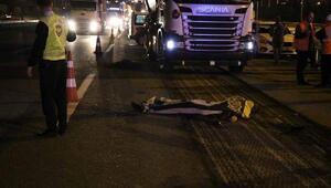 Pendikte TEM Otoyolu asfalt yenileme çalışmasında kaza: bir işci öldü