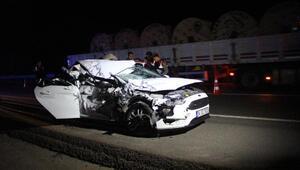 Otostopla bindiği otomobilin karıştığı kazada öldü