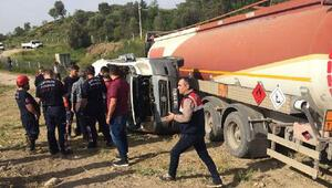 Antalyada tankerle öğrenci servisi çarpıştı Yaralılar var…