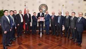 TTSO heyetinden TOBB Başkanı Hisarcıklıoğlu'na ziyaret
