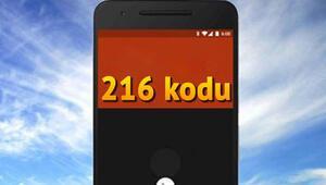216 nerenin telefon kodu