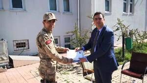 Kaymakam Kılıçtan jandarma personeline başarı belgesi