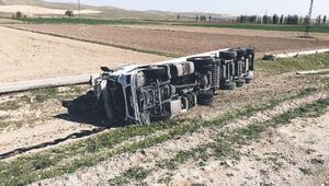 Tanker devrildi: 1 yaralı