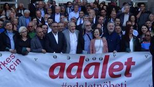 56ncı adalet nöbetine tahliye edilen avukat Akın Atalay da katıldı