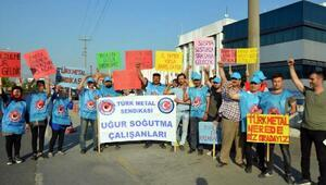 İşten çıkarılan Uğur Soğutma işçilerinden eylem