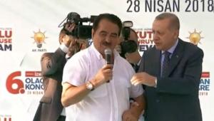 Cumhurbaşkanı Erdoğan ilk mitingi İzmirde yaptı... Tatlıses sürprizi