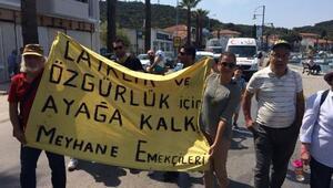 Ayvalıkta 1 Mayısta Meyhane Emekçileri yürüdü