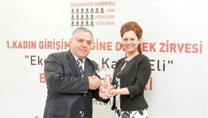 Kadın Girişimciliğine Destek Zirvesinde Proje Geliştirme Başarı Ödülü İlknur Menlikin oldu
