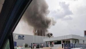 Eskişehirde havacılık firması fabrirkasında yangın
