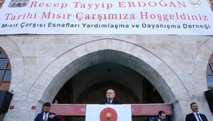 Cumhurbaşkanı Erdoğan Mısır Çarşısında konuştu (1)