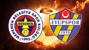Menemen Belediyespor Eyüpspor maçı canlı yayınlanacak mı Karşılaşma saat kaçta
