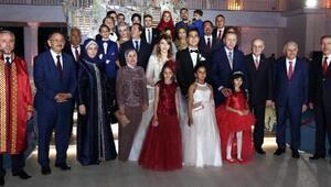 Cumhurbaşkanı Erdoğan, Kayseride Özhaseki ailesinin nikah törenine katıldı
