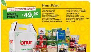 Onur Marketten Ramazan paketleri
