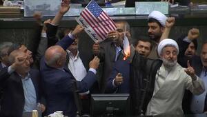 İrandan çok sert sözler... Vekiller ABD bayraklarını yaktı