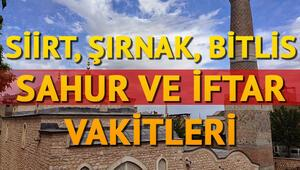 Şırnak, Siirt ve Bitlis ilk sahur ve iftar vakitleri 2018 Diyanet iftar saatleri