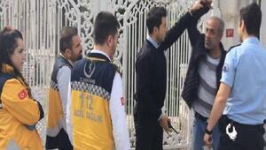 Beşiktaşta polis ve sağlık ekibinin zor anları