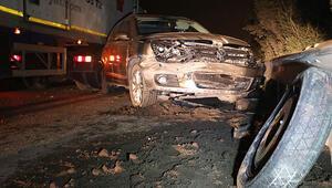 TEMde korkunç kaza... Yol kenarında lastik değiştiren cipe TIR çarptı, bir kişi öldü