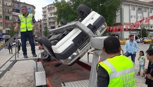 Trafikte hayatın gerçeğini yaşadılar