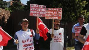 Gazilik için Ankaraya yürüyorlar