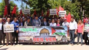 Burdurda Kudüs protestosu