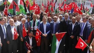İzmitte ABD ve İsrail protesto edildi