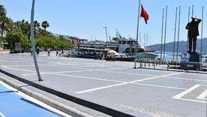 Ramazanın başlamasıyla Marmariste sahiller turistlere kaldı