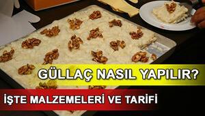 Güllaç nasıl yapılır Ramazana özel güllaç tarifi ve malzemeleri