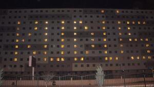 Yurttaki odaların aydınlatmalarıyla Kudüs yazdılar