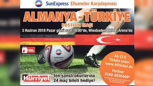 'Efsaneler Maçı'na Hürriyet'ten 24 bilet