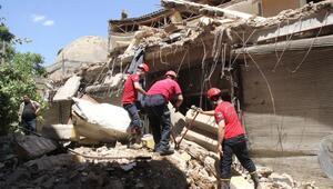 Tarihi çarşıdaki kullanılmayan 5 dükkan çöktü